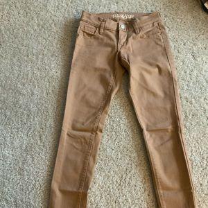 Old navy rockstar tan skinny jeans